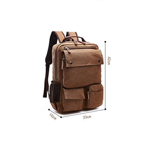 Green Men's Canvas Laidaye Backpack purpose Travel Shoulder Multi Business Leisure wZxqgWPxCz