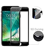 SuperdealsForTheinfinity Apple iPhone 7 (Full Body Glue) (Edge to Edge) (Black) (Curve) (5D) Tempered Glass Screen Protector with Installation Kit