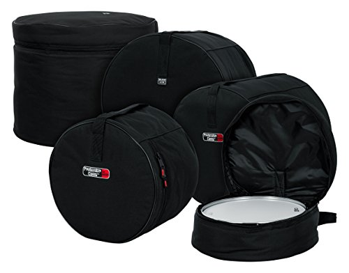 Gator Cases Protechtor Series Five Piece Padded Nylon Gig Bags for Fusion Style Drum Sets; Fits  - 22″X18″, 10″X9″, 12″X10″, 16″X16″, 14″X5.5″(GP-FUSION16)