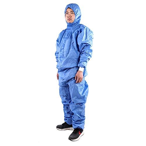 (Coverall Overalls Boiler Suit, Safety Clothing Hooded Protective Clothing Spray Paint Cleaning Clothes Suit Overalls(M) )