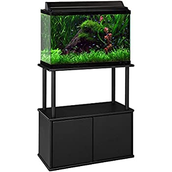 Amazon.com : Aquatic Fundamentals Black Aquarium Stand ... 10 Gallon Fish Tank Stand Metal