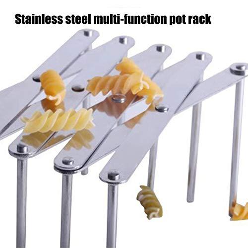 Multifunctional Kitchen Rack Adjustable Steaming Rack Tool Stainless Steel Multifunctional Pot Pan Lid Rack Cover Rack Kitchen Rack