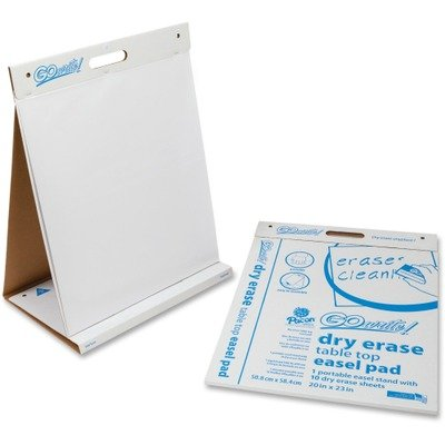 GoWrite! Dry Erase Table Top Easel Pad, 20 x 23, 4 10-Sheet Pads/Carton by PACON (Catalog Category: Paper, Envelopes & Mailers / Pads) by Pacon