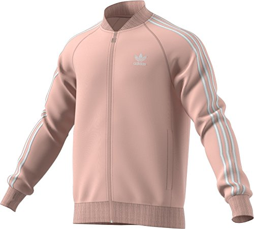 adidas Originals Men's Superstar Track Top (XL) Pink/White