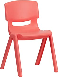 amazon com flash furniture blue plastic stackable school chair with