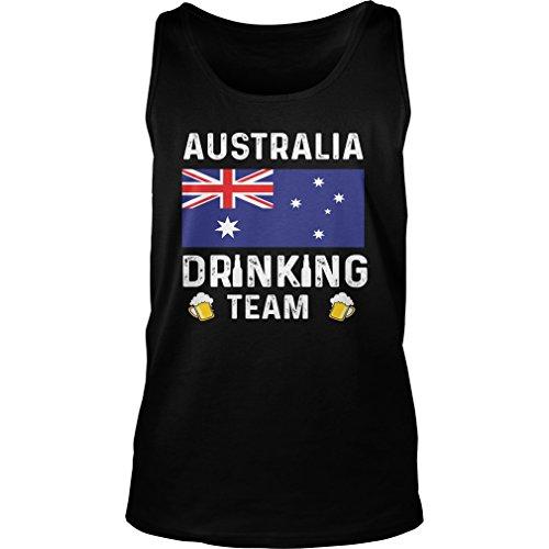 Bama Proud Australia Drinking Team Tank Top Australia Beer Lovers Tank, S