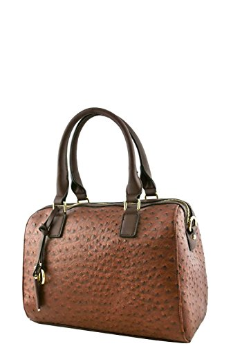 womens-designer-faux-leather-fashionable-ostrich-top-handle-bag-va2014-coffee