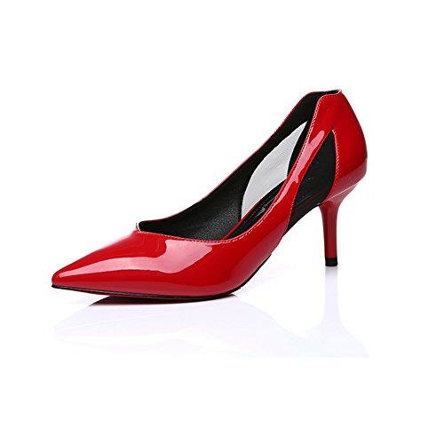 Hoxekle Donne Sexy Tacchi Alti Pompe A Spillo Primavera Moda Nuove Scarpe Elemento Rosso