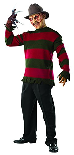 Rubie's Men's Nightmare On Elm St Deluxe Freddy Sweater with Mask, Multicolor, X-Large - Adult Freddy Sweater