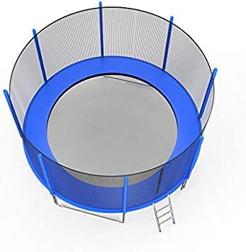 DondPO 8FT//10FT//12 FT Kids Trampoline with Enclosure Net,Trampoline Round Jumping Table US Stock Outdoor Trampoline Fun Summer Exercise Fitness Equipment for Adult Kids Indoor Toy Great Gift