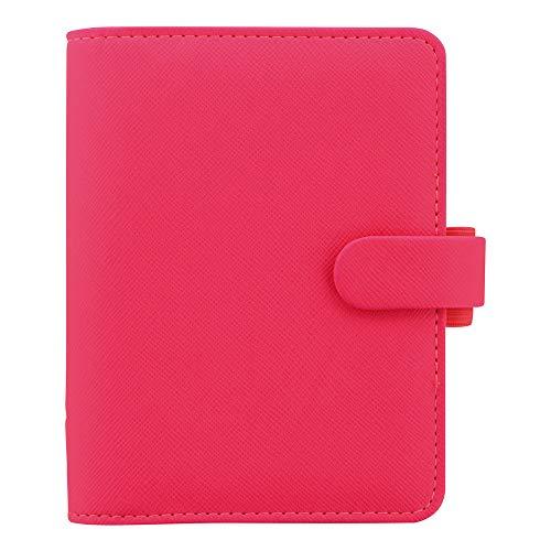 Pink Pen Filofax (Filofax 2019 Pocket Organizer, Saffiano Fluoro Pink, 4.75 x 3.25 inches (C028752-19))