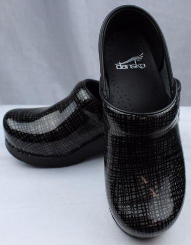 Dansko Women's Professional Mule, Silver/Black Crisscross, 38 M EU / 7.5-8 B(M) US