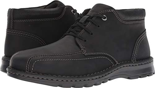 (CLARKS Men's Vanek Mid Ankle Boot, Black Leather, 115 M US)
