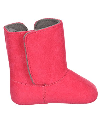 Black Boots or Pink Boots for Dress or fashion Wee Kids Baby-Girls Boots with Bow Infant Crib Shoes Soft Sole Baby Shoes