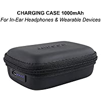 [Best Seller] Jabees Portable Charging Case with Built-in 1000mAh Battery Capacity to Recharge In-Ear Headphones and Wearing Devices – Fitbit Fitness Tracker Beats JBL Jabra Bose Wireless Earbuds