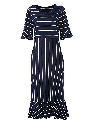 Sleeve Print Women Dress - 9