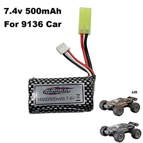 7.4V 500mAh Rechargeable Li-ion-Fe Battery 1/16 9136 Car 4WD Truck