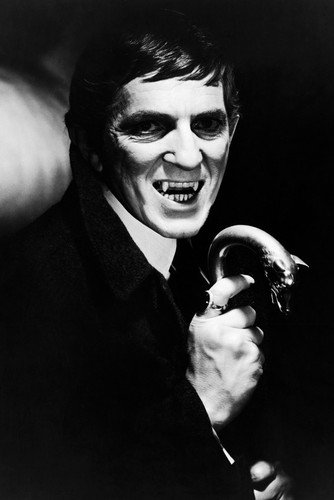 Jonathan Frid Dark Shadows Vampire Teeth Portrait Tv Cult 24x36 Poster Silverscreen