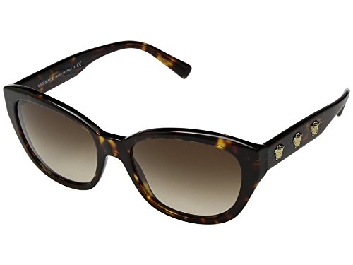 Versace Womens Sunglasses Tortoise/Brown Acetate - Non-Polarized - 56mm by Versace