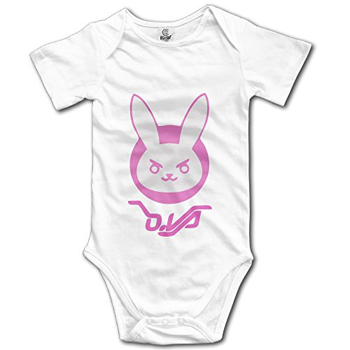 [D.Va Rabbit Unisex Short Sleeve Romper Bodysuit Playsuit Outfits For Baby] (Elvira Outfit)