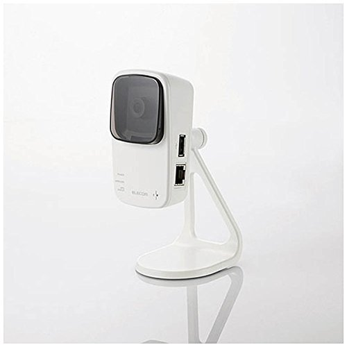 ELECOM Wireless network camera 300Mbps 11n repeater function +& microSD slot & microphone NCC-EWF100RMWH2 (Japan Import)