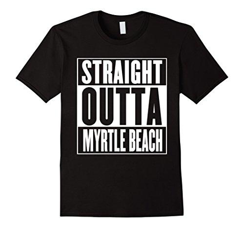 Mens Straight Outta Myrtle Beach Shirt Medium Black