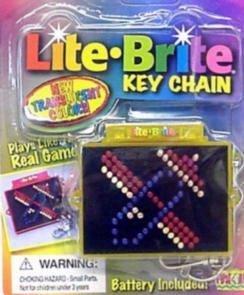 Lite Brite Key Chain by Hasbro Inc.
