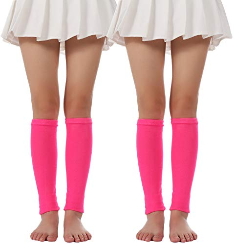 Women Winter Warm Costume Party Knit Long Socks Leg Warmers(Rose Red)