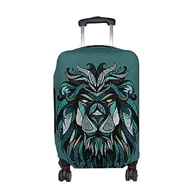b68eda90c070 DEYYA Animal Lion's Head Spandex Travel Luggage Cover Baggage ...