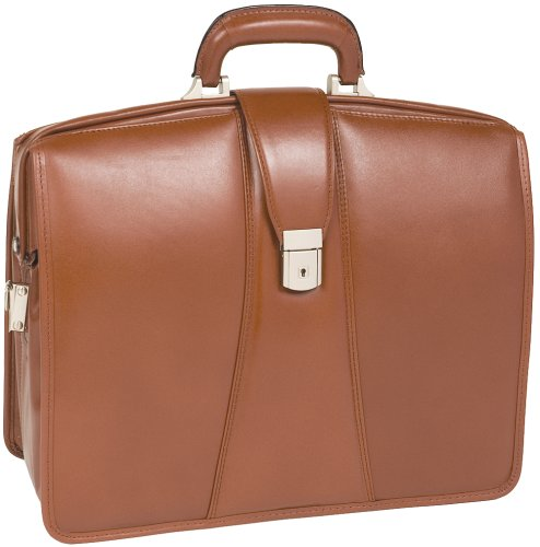 McKleinUSA Harrison 83384 V Series 17-Inch Partners Full Grain Oil Tanned Leather Laptop Brief (Brown) by McKleinUSA