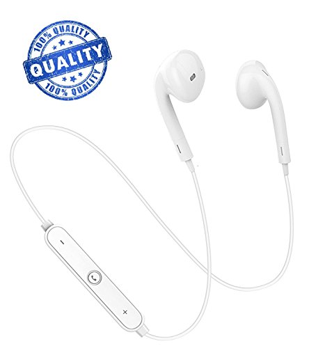 Price comparison product image HAIDE Bluetooth Headphones,  Wireless Headphones Headsets Earphones,  Bluetooth Earbuds with Microphone for iPhone X / 8 / 7 / 6,  Galaxy S9 / S8 / S7 / Google Pixel / Compatible with All Android & ISO