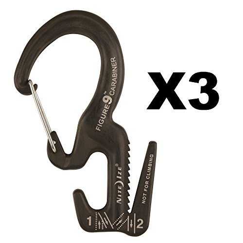 - Nite Ize Figure 9 Carabiner Small Rope Tightener Aluminum Tie Down Tool (3-Pack)