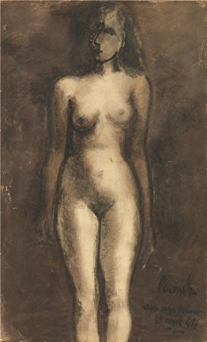 Oil Painting 'Constant Permeke - Standing Nude, 1913' Printing On Perfect Effect Canvas , 18x30 Inch / 46x76 Cm ,the Best Home Theater Artwork And Home Artwork And Gifts Is This High Quality Art Decorative Prints On Canvas