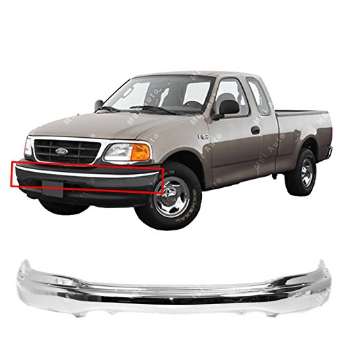 2000 Ford F150 Heritage - MBI AUTO - Chrome, Steel Front Bumper Face Bar for 1999-2002 Ford F150 99-02, FO1002356