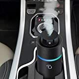 VRZTLAI Car Essential Oil Diffuser, Cool Mist Air Car Humidifier Air Refresher USB Ultrasonic Diffuser with 7 Colorful LED Lights for Car Travel Office Home (Black)