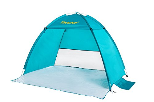 Beach Tent CoolHut Beach Umbrella Sun Shelter Instant Portable Cabana Shade Outdoor Pop Up Anti-UV 50+ Lightest & Most Stable Easyup By Alvantor