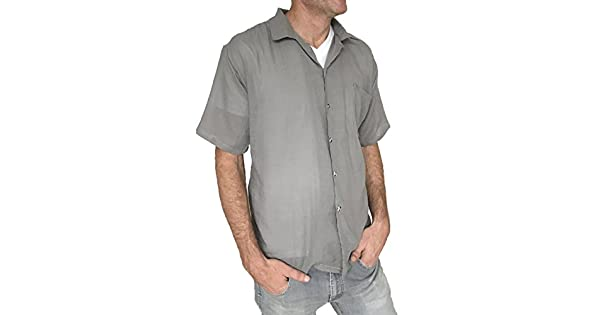 Amazon.com: De los hombres camisa blanca luz peso 100 ...