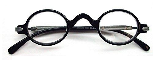 El profesor de estilo vintage gafas de lectura, 1,75, negro