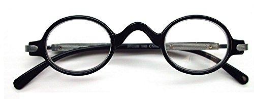 The Professor Vintage Style Reading Glasses, 1.00, Black