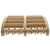 Holz Massage Kosmetex Fußroller für Fussmassage zur Anregung der Fußreflexzonen, Groß