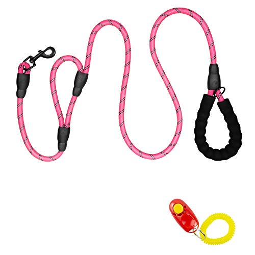 Dog Leash, 6 FT Long Double Handles Dog Leash with Comfortable Traffic Padded for Control Safety Training, Reflective…