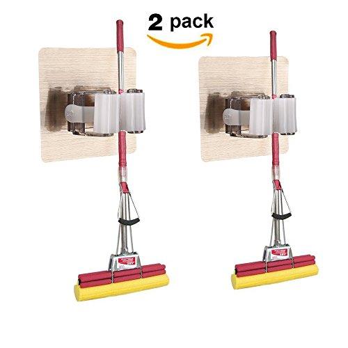 Guzack 2 Pack Broom Mop Holder,Self Adhesive Broom