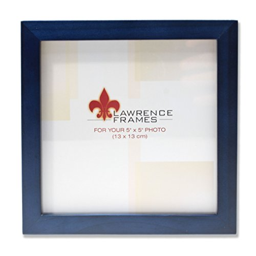 (Lawrence Frames Blue Wood Picture Frame, Gallery Collection, 5 by)