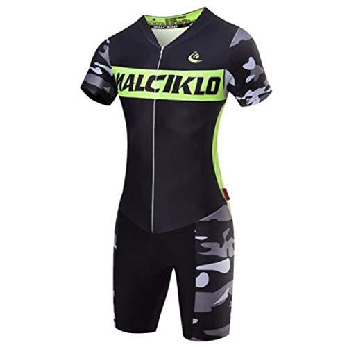 Women Short Sleeve Cycling Suit Reflective Shirt Padded Shorts Set for Road Bike Mountain Riding