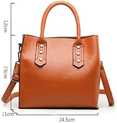 GZQDX Sacs à bandoulière, Multi-Poches Capacité Sac à Main, Mode Casual Femme Douce épaule en Cuir Paquet Diagonal, Brown
