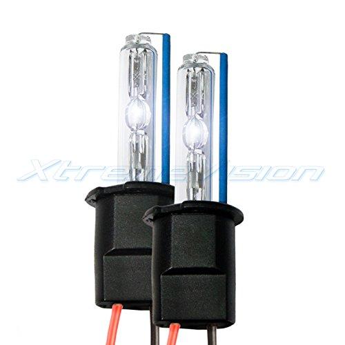 XtremeVision HID Xenon Replacement Bulbs - H3 5000K - Bright White (1 Pair) - 2 Year Warranty (H3 Bulb Hid Xenon)
