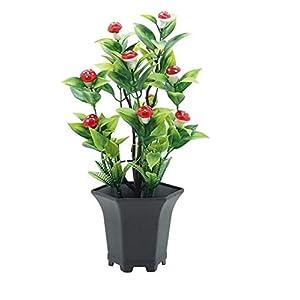 MARJON FlowersArtificial Fake Flowers,1Pc Potted Artificial Fruit Plant Bonsai Performance Garden Wedding Party Decor 100