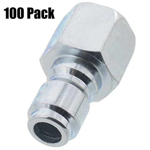 Erie Tools 100 Pressure Washer 3/8 Female NPT to Quick Connect Plug Zinc Plated Coupler, High Temp, 4000 PSI, 10.5 GPM by Erie Tools
