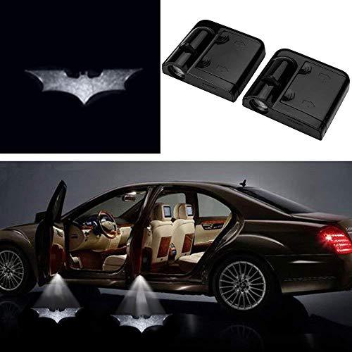 3D Ghost Shadow Emblems Wireless Door Logo Shadow Ghost Lights (2pcs) fit Ford Focus 2 Fiesta F150 Mondeo Transit Mustang etc (Iron Batman)