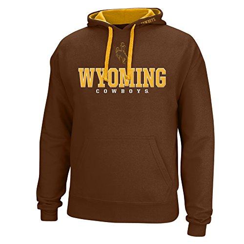 J America NCAA Wyoming Cowboys Men's Logo School Name Foundation Hoodie, X-Large, ()